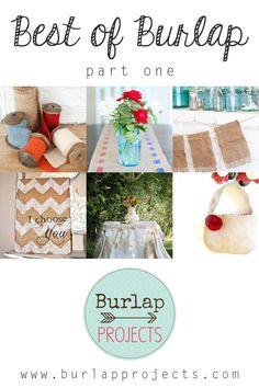 Best of Burlap DIY Projects Part One