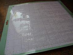 cleaning & resticking cricut mat