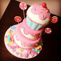 Candy and Cupcake Layer Cake