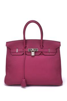 Vintage Hermes Leather Birkin Handbag