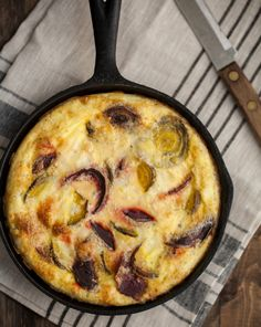 Roasted beet and blue cheese frittata