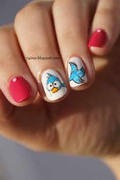 Free Like A Bird by 74ines from Nail Art Gallery