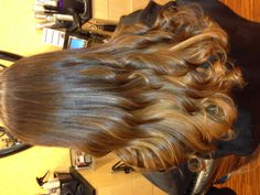 ombre with peekaboo highlights