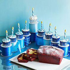A cupcake menorah! #Hanukkah