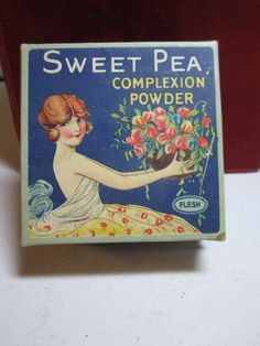 1920's Sweet Pea Complexion Powder Box beautiful