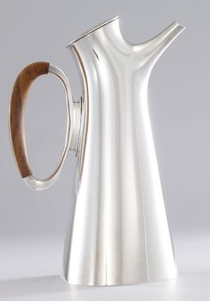 Hans Bunde; Silver and Rosewood Martini Pitcher, 1950s