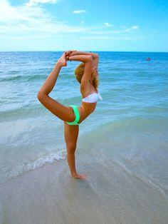 cheer scorpion at the beach bikini ocean cheerleading  from @Kythoni Cheerleading & Gymnastics: Off the Mat, Field & Floor board http://pinterest.com/kythoni/cheerleading-gymnastics-off-the-mat-field-floor/ m.14.37 #KyFun