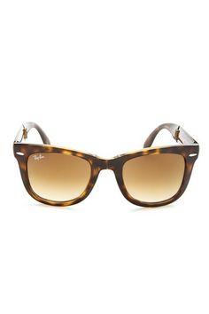 Unisex Folding Wayfarer Light Havana Plastic Sunglasses on HauteLook #rayban #ray_ban #rayban_sunglasses ray ban sunglasses , ray ban outlet