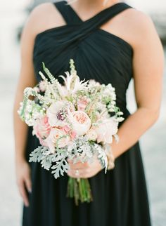 #peony, #dusty-miller, #anemone, #rose  Photography: KT Merry - ktmerry.com  Read More: http://www.stylemepretty.com/2014/05/28/romantic-glamour-in-miami/