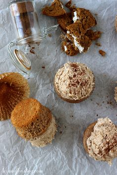 Brown Sugar Spice Cupcakes with Oatmeal Cream Pie Frosting | beyondfrosting.com | #cupcakes #oatmealcreampie #marshmallow by Beyond Frosting, via Flickr
