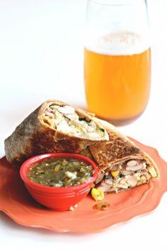 #Recipe / Freezer-Friendly Spicy Chicken Burritos