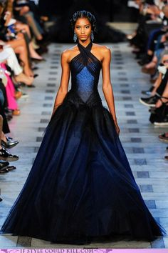 Zac Posen Midnight Blue Gown