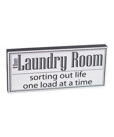'The Laundry Room' Box Sign | zulily