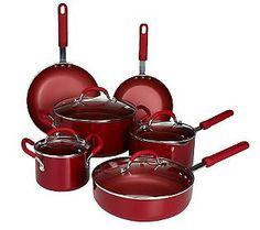 CooksEssential Color Smart 11-pc. Aluminum Nonstick Cookware Set