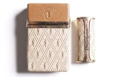 YSL vintage cigarette & lighter case