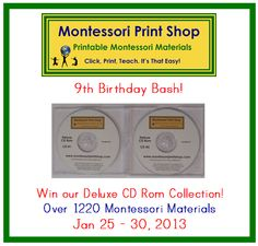 Montessori Print Shop Blog: MPS Birthday Bash (day 9) - Montessori Print Shop Deluxe CD Rom Collection