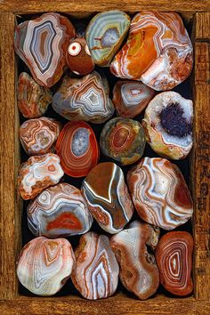 Big box of Lake Superior agates