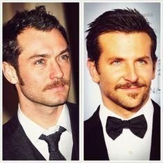 Bradley Cooper must get lots of ladies with that mustache.