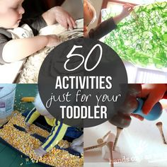 These activities should keep toddlers busy for awhile!