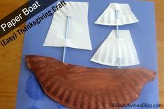 create a paper boat this Thanksgiving to remind your kids of the Mayflower