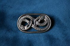 Medieval Viking brass brooch authentic archeological reproduction #Huginn #Muninn