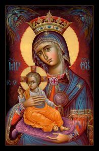 """Our Lady: the Woman (Gn 3:16, Rv 12:1) to whom the Holy Trinity cannot say """"no,"""" when She asks Them for something for us. #God #Virgin #Catholic #Orthodox #Christianity #art #icons"""