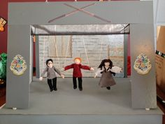 puppet playhouse with clay marionettes by pottermouth