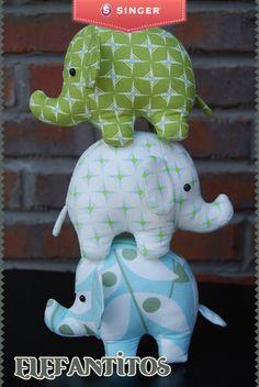 Elefantitos #peques #costura #Singer