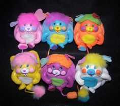 Mini Popples 1980's toys I had the white one!!! Loved it!