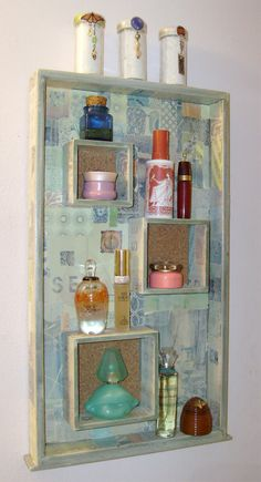 old drawers, shadow box