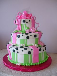 Decorative fondant layer cake