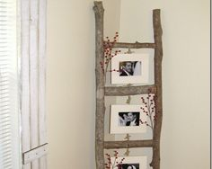 Photo Ladder    How creative is this? While this is one of the DIY ideas using twigs and branches that I can never make because I have cats, I still had to…