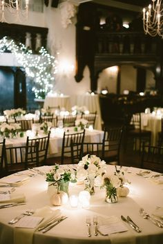 The Tables are Set - Shane Godfrey Photography #aldencastle #modernvintage #weddings #fallweddings