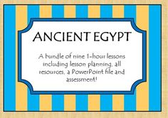 My Ancient Egypt history planning lesson bundle which includes 9 lesson plan and activities!
