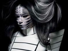 Ayami Nishimura, Makeup,  photo by Rankin