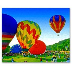 balloons canvas  This is not a picture of our Spiediefest Balloon Rally but it could be, with the colors and the mountains...I love this!