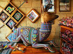Deer, Beaded Huichol Art.