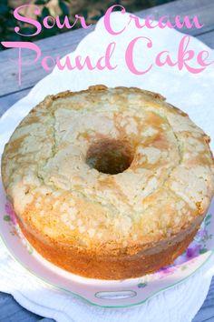 Sour Cream Almond Pound Cake  made by @Teresa
