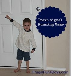 A train signal running game to go with The Little Train by Lois Lenski