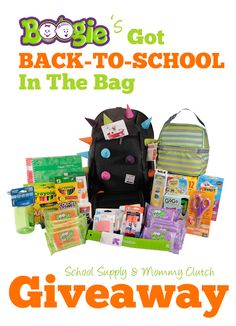 Boogie Wipes Backpack giveaway