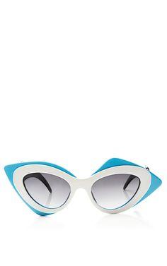 + Prabal Gurung Cat-Eye Acetate Sunglasses by Linda Farrow