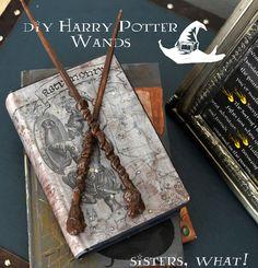 Harry Potter wands made out chopsticks and a glue gun