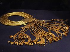 Gold and Lapis Lazuli Collar of Psusennes I  --  Reign 1047-1001 BCE  --  Dynasty 21  --  @ Cairo Museum