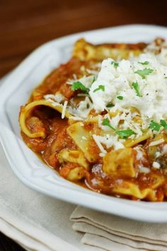 Chicken Lasagna Stew Recipe ~  a quick and easy way to enjoy the flavors of classic lasagna, without all the layering fuss.