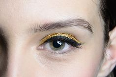 makeup, gold liner, doubl liner, brow, beauti, gold eyelin, eye liner