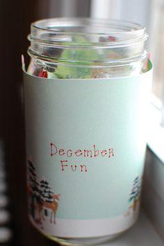 DIY December fun jar - list of 50 things to do with kids in December