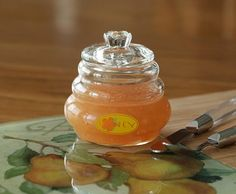Pear Honey-THE BEST canning recipe I have.  My family fights over the last serving!