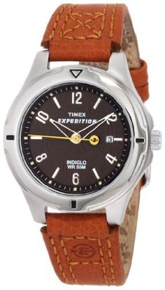Timex Women's T49856 Expedition Field Brown Dial Burnt Sienna Leather Strap Watch Timex. $35.76. QuickDate Feature. Casual watches featuring feminine styling coupled with Outdoor-inspired design cues. Genuine leather strap. Water-resistant to 165 feet (50 M). Indiglo® night-light