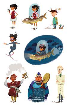 Character Designs from Julia Sarda