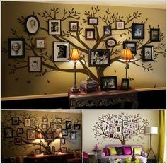 Photo Frames Tree Art- Creative Ideas to Display Family Photos